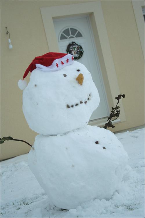 Bobby le bonhomme de neige, une création à 6 mains!